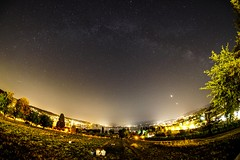 Watching the lunar eclipse under the milky way (ramvogel) Tags: sony a6300 samyang 8mm night astro moon moonlight wädenswil au zürichsee milkyway