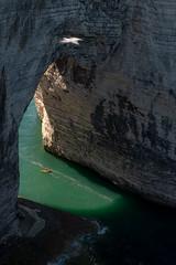 On My Way (sdupimages) Tags: sea mer etretat arche arch kayak canoe boat bateau seascape landscape paysage voyage travel contrast contraste ombre shadow