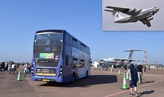 Candid on Camera - RAF Fairford, UK (paulburr73) Tags: riat fairford gloucs candid il76md iiyushin ukraine raf airshow airbase airfield 36824 scania n250ud alexanderdennis mmc enviro400 yt67xkh showground busroute freebus staticpark tanker transport bus unitedstatesairforce 2018 july summer cloudless bluesky gloucestershire first westofengland cotswolds royalairforce airtattoo