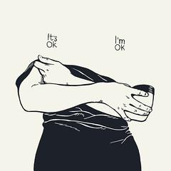 itsokimok (Marrast) Tags: ok okay drawing illustration woman female minimalistic hands dress topless blackandwhite dailystuff antonmarrast inkpen