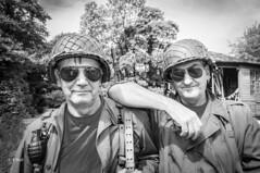 Peak Rail 1940s Event 2018 pic55 (walljim52) Tags: wartime actor reenactment military civilian soldier uniform costume ww2 peakrail1940s man woman girl people event americansoldiers gi buddies mono blackandwhite
