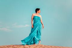 Several Miles From the City (Daniel Medley) Tags: sanddunes woman beautiful sky dramatic nikon d750 85mm18g