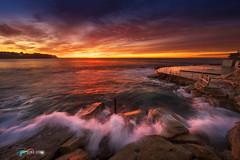 Bronte Waves, Sydney. (Luke Zeme Photography) Tags: australia australianhdrphotography australianlandscapephotgraphy australianphotography australianseascapephotgraphy lukezeme luminancemasks sony sonya7r beach bronte brontebeach ocean sea seascape sunrise sydney waves