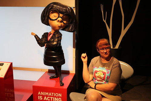 "Tracey with Edna Mode from The Incrediblaes - The Science Behind Pixar • <a style=""font-size:0.8em;"" href=""http://www.flickr.com/photos/28558260@N04/43859134472/"" target=""_blank"">View on Flickr</a>"