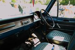 Ford Transit mk1 (JoRoSm) Tags: hebden bridge classic vintage car show 2018 cars autos canon eos 500d tamron 1750 f28 blue ford transit cab cockpit steering wheel wood dash