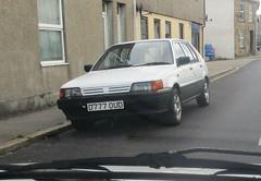 1987 Nissan Sunny (occama) Tags: d777oud 1987 nissan sunny old car cornwall uk white japanese