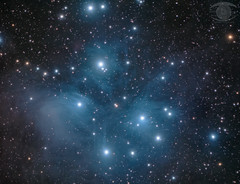 M45 - The Pleiades Cluster (Dark Arts Astrophotography) Tags: astrophotography astronomy space sky stars star science m45 subaru subarudarksky pleiades cluster messier astrometrydotnet:id=nova2712778 astrometrydotnet:status=solved
