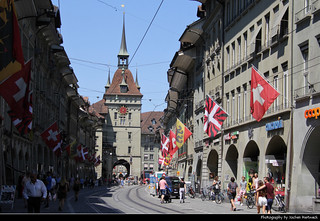 View along Kramgasse, Bern, Switzerland
