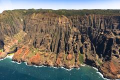 The Na Pali Coast.  Kauai (The Garden Isle) - Hawaii (LKungJr) Tags: hawaii kauai napalicoast na ure waves