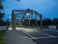 P7300993 (Copy) (pandjt) Tags: binghamtonny binghamton ny travelogue nightphotography ironbridge bridge lenticulartrussbridge trussbridge pedestrianbridge susquehannariver southwashingtonstreetbridge berlinironbridgeco historicbridge parabolicbridge