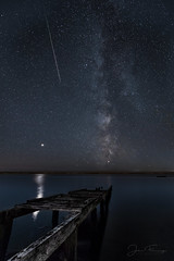 Milky Way - Dorset (Mr F1) Tags: milkyway stars nightphotography dark smell smelly pier jetty fleetlagoon fleet chesilbeach weymouth dorset johnfanning shootstar meteor mars reflection night photo