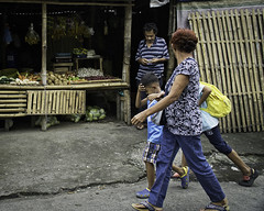 Not Customers (Beegee49) Tags: street stall fruit vendor man women children silay city philippines