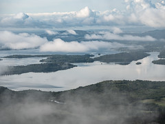 The Islands - Loch Lomond August 2018 (GOR44Photographic@Gmail.com) Tags: loch lomond ben cloud mist island trees water gor44 panasonic g9 45200mmf456 scotland stirling dumbarton hills mountain