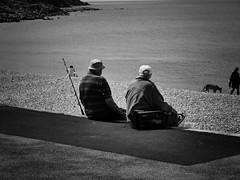 Old boys. (awphoto3) Tags: fishermen beach sea coast blackwhite