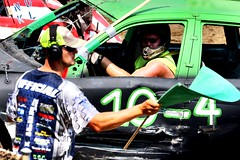 Green flag (Laurence's Pictures) Tags: boone county fair belvidere illinois state show animal politican tractor 2018 demolision demolition derby cars race auto automobile america crash junk racing nascar em up