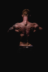 _BSC2430 (benni_schuetzenhofer) Tags: inked shredded shred tattoo tattooedup blackbackground abs sixpack huge muscle muscles big getbig fitness model athletic fit fitguy man male malemodel