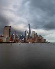 Storm Brewing (gordonb493) Tags: new york nyc battery park city cityscape freedom tower buildings architecture skyline skyscraper usa manhattan hudson river blue hour sunset twilight dusk canon6d canon1635mm