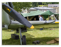1940's Weekend in North Yorkshire (a) (johnhjic) Tags: johnhjic hasselblad x1d north yorkshire actors people uk england raf 100 theme themed colour color reenactment history spitfires spitfire pateleybridge northyorkshire military greatbritain