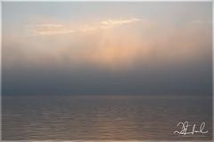 silken sunset (D J England) Tags: djenglandphotography sigma24105mmf4dgoshsma douglasjengland canoneos5dmkiii brucepeninsula southernontario mist dje ontario fog djengland thebruce tobermory littletub