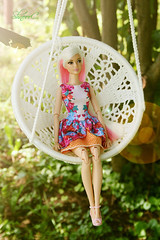relaxing in the hammock (КристинаCristina) Tags: barbie mattel doll dollphotographer dollcollector barbiedoll toy karlbarbie