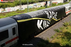 RACHE / KINS Wholecar (rebecca2909) Tags: db deutschebahn trains train graffiti graff wholecar kins rage rache