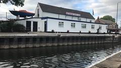 Nottingham Yacht Club (Sam Tait) Tags: canoe open british river trent adventure england boat boating boats plywood silhouette sailing sail cranfleet cut lock