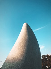 Outdoor sculpture & light #jcutrer (joncutrer) Tags: jcutrer texture shadow stone soft round smooth art composition sky sanangelo texas sculpture outdoorart light evening