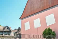 The Squares (pni) Tags: roof chimney pink blue sky house wall building fence bush tree paint this stgoar ger18 germany deutschland pekkanikrus skrubu pni