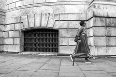 Lady walking by St Pauls Cathedral (dlsmith) Tags: