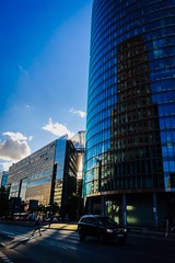 Potsdamer Platz Reflection (Fairy_Nuff (new website - piczology.com!)) Tags: pedestrian shadow center sony db building sun light berlin platz potsdamer