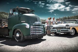 Chevy COE Truck and 1957 Mercury