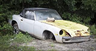 Abandoned Sports Car (Porsche 914 ?)