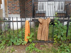 Coordinated (navejo) Tags: montreal quebec canada clothes dress scarf fence