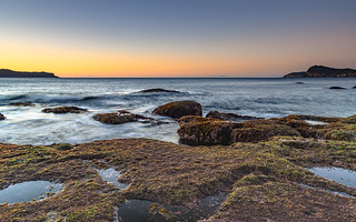 Sunrise Seascape with Clear Skies
