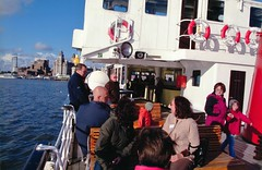 Aboard the Mersey Ferry we return to Liverpool (photo by Tony Marshall)