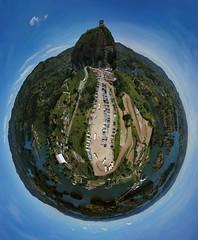 Tini planet de la Piedra de Guatapé y el embalse, municipio de Guatapé, Antioquia, Colombia (Andrés García Avila) Tags: drone mavic pro platinum tini planet guatapé antioquia colombia paisaje