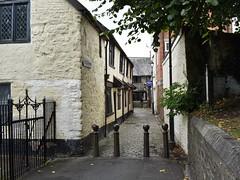 Homes of historical philanthropy (Phil Gayton) Tags: building road bollard iron gate cafe alms house school church lane barnstaple devon uk