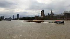 Westminster Bridge (Mars Mann) Tags: london riverthames boats august2018 skyline clouds sky flickrmarsmann city cityscape innercity bridge