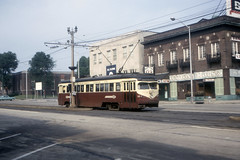 US PA Philadelphia SEPTA-PSTC Red Arrow 11 7-1967 (David Pirmann) Tags: pa pennsylvania philadelphia septa redarrow pstc philadelphiasuburbantransco interurban train trolley tram transit railroad