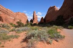 Devil's Garden Trail_1 (rob kraay) Tags: usa utah moab archesnationalpark devilsgardentrail robkraay landscape sandstone rockformations fins devilsgarden erosion sand rock archesnp sky desert