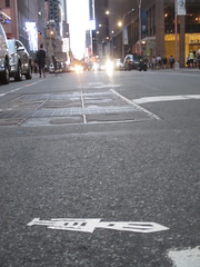 Tall Pointy Head White Robot Tile Stikman 7777 (Brechtbug) Tags: a return stikensian times tall pointy head white robot tile stikman nyc street art graffiti tag tagging stencil cut out toynbee stickman asphalt figurative school flat action figures new york city 08152018 cross walk smoke 2018 stik man men curious streets summer heat august 48th 6th ave
