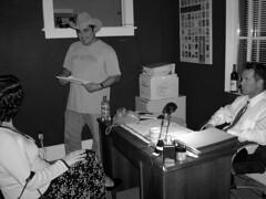 Suspended Homicide (ARGO Portraits) Tags: black white film noir directing suspended homicide robert cantu behind scenes
