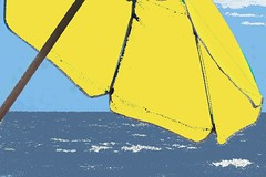 Let's color (tmattioni) Tags: beachumbrella ocean abstract yellow paintbucket hss cmwd cool