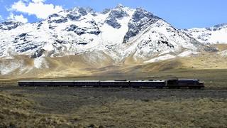 La Raya Pass Peru Titicaca train from Cuzco to Puno altiplano