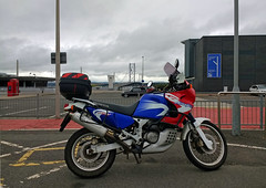 Stretching the legs (beqi) Tags: 2018 africatwin forthroadbridge honda motorbike southqueensferry xrv750