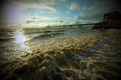Clevedon Sunset (weirdoldhattie) Tags: clevedon sunset pier beach sea seaside seashore somerset