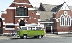 1979 Volkswagen Motor Caravan. (ManOfYorkshire) Tags: 1979 vw volkswagen campervan motor caravan auto automobile motoring green 1584cc petrol engine 16l woodst doncaster towncentre partked
