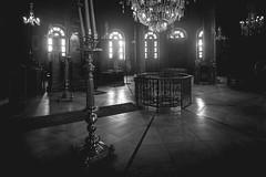 Church of St. George, Cairo, Egypt (pas le matin) Tags: church église orthodox orthodoxchurch copticchurch coptic copte travel world voyage cairo lecaire egypt égypte afrique africa interior intérieur dark sombre nb bw monochrome noiretblanc blackandwhite canon 7d canon7d canoneos7d eos7d