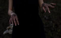 (Moonpollution) Tags: dark darkart darkness grim hands estetic art moonpollution murk artphoto blasphemy black dress ekkimukk moonpollutionart photographer darkside akulich alexakulich dirt grime muck mud blackart bones brainpan skull