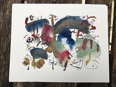 (Michiel Thomas) Tags: watercolor watercolour aquarel acquarello aquarellist wasserfarbe art small artwork groningen holland netherlands lyrical abstract paintind lyricalabstract book covers bookcover bookcovers illustration illustrations
